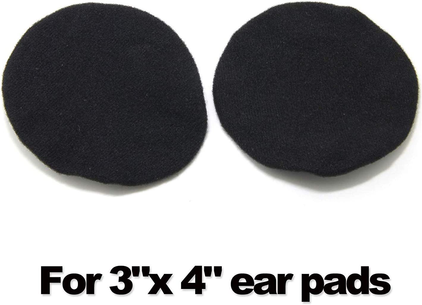 Black Headphone Covers Racing Ancable 2-Pairs Washable Flex Headset Earpad Cloth Cover for Gym Training Gaming Aviation etc More Over The Ear Headphones