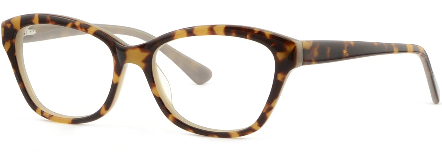 8e0be01e67 Amazon.com  Women s Cat Eye Cateye Acetate Frames Spring Hinges Glasses  Tortoiseshell  Clothing