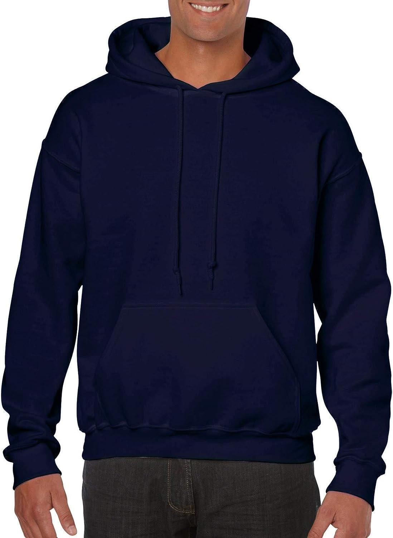Gildan Dark Chocolate Hoodie Heavy Blend Blank Plain Hooded Sweat Sweater Mens