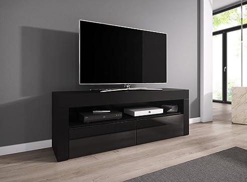 Tv schrank schwarz  TV-Element TV Schrank TV-Ständer Entertainment Lowboard LUNA 140 ...