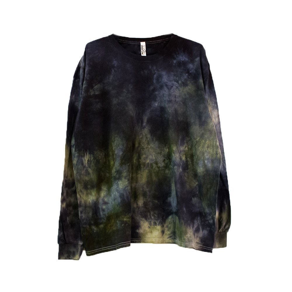 Dark Camo Tie Dye Long Sleeve Shirt Unisex Burning Man Festival Plus Size Top S, M, L, XL, XXL by Masha Apparel