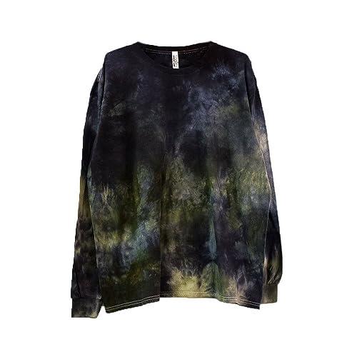 242959572332 Amazon.com  Dark Camo Tie Dye Long Sleeve Shirt Unisex Burning Man Festival  Plus Size Top S