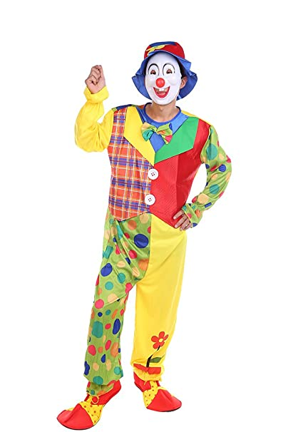 NiSeng Horror Disfraz de Payaso Adultos Disfraz Circo con ...