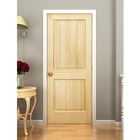 Amazon.com: 2 Panel Door, Interior Door Slab, Solid Pine, Square Top,  Double Hip Panel (80x30): Home Improvement