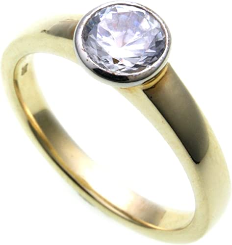 Ring Brillant 1,00 ct. SI Diamant echt Gold 750 18k Solitär