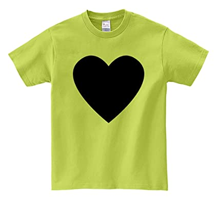 Short Sleeve T Shirt Solid Heart Symbol Light Green Xxx Large