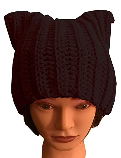d9fe1a0612707 ALLDECOR Handmade Knitted Pussy Cat Ear Beanie Hat for Women s March Winter  Gifts at Amazon Women s Clothing store