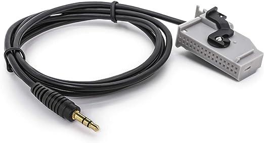 Adapter Universe Kfz Auto Radio Aux In Adapter Kabel Klinke Stecker Für Rns E Tv Tuner Auto