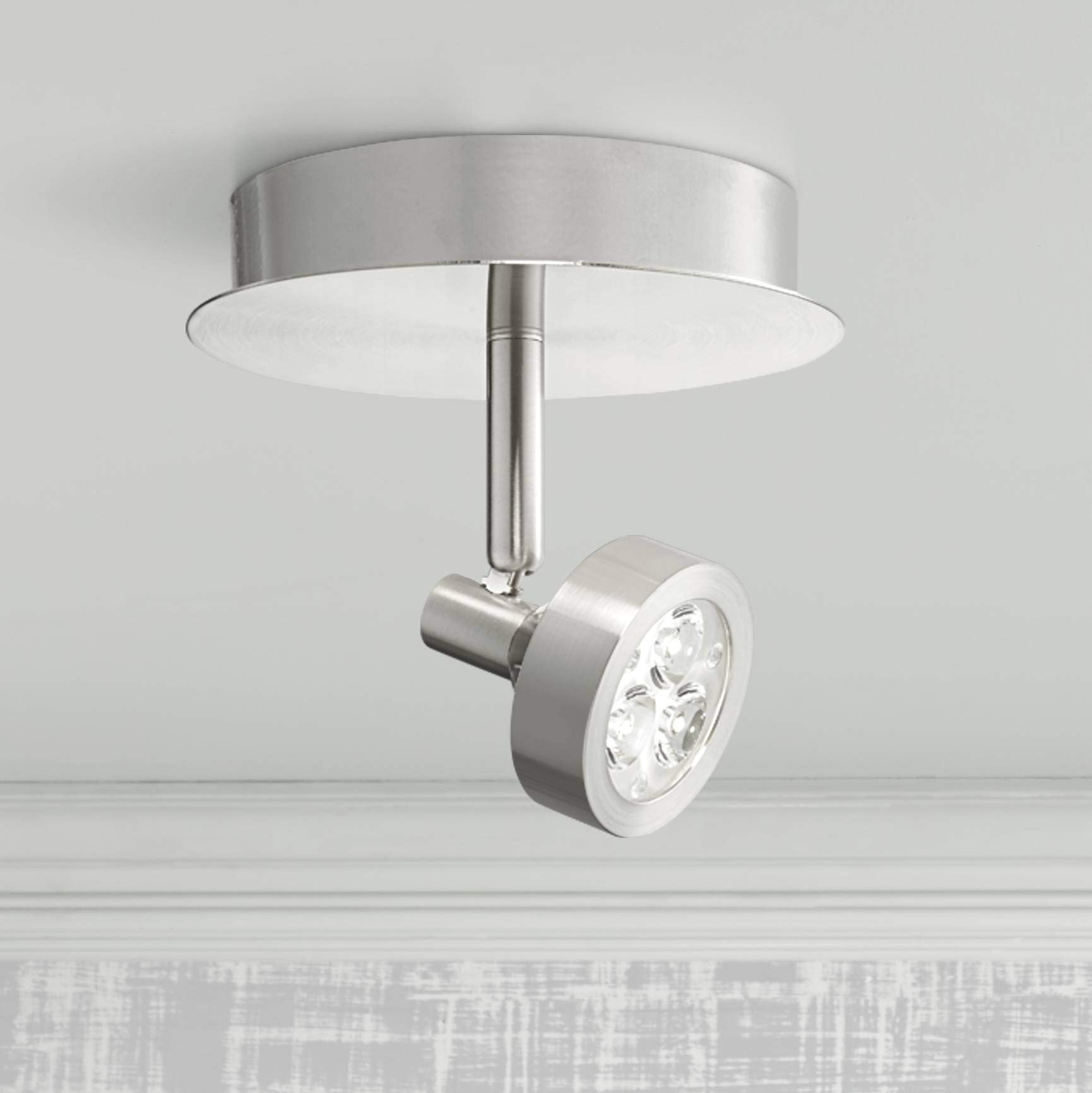 Pro Track Tilden 1-Light Brushed Nickel LED Ceiling Light - Pro Track