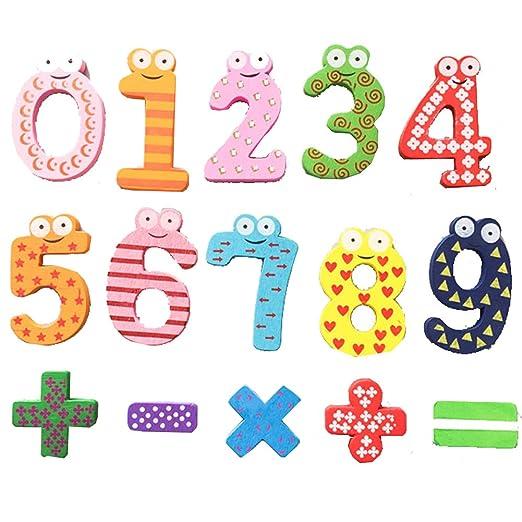 YZBear - Imanes para nevera con diseño de alfabeto y número ...
