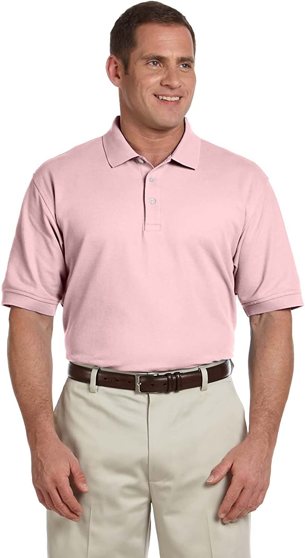 4X Devon /& Jones Mens Short Sleeve Pima Pique Polo Pink