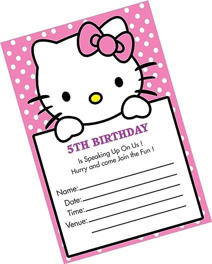 Partystuff Cards Hello Kitty Birthday Invitation Card