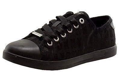 68e34fbb6be DKNY Donna Karan Women s Blair Logo Black Fashion Sneakers Shoes Sz. 6.5