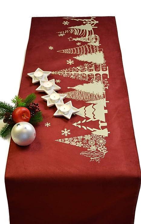Camino de mesa Christmas Navidad Invierno Tiempo ante de imitación ...