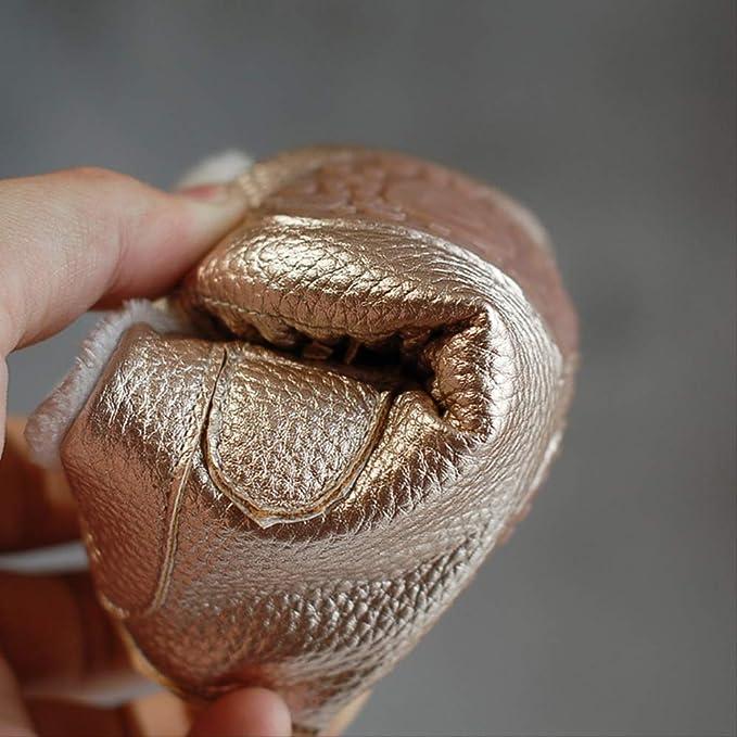GUHUA Zapatos De Algodón con Flecos para Bebés, Cuero Perlado ...