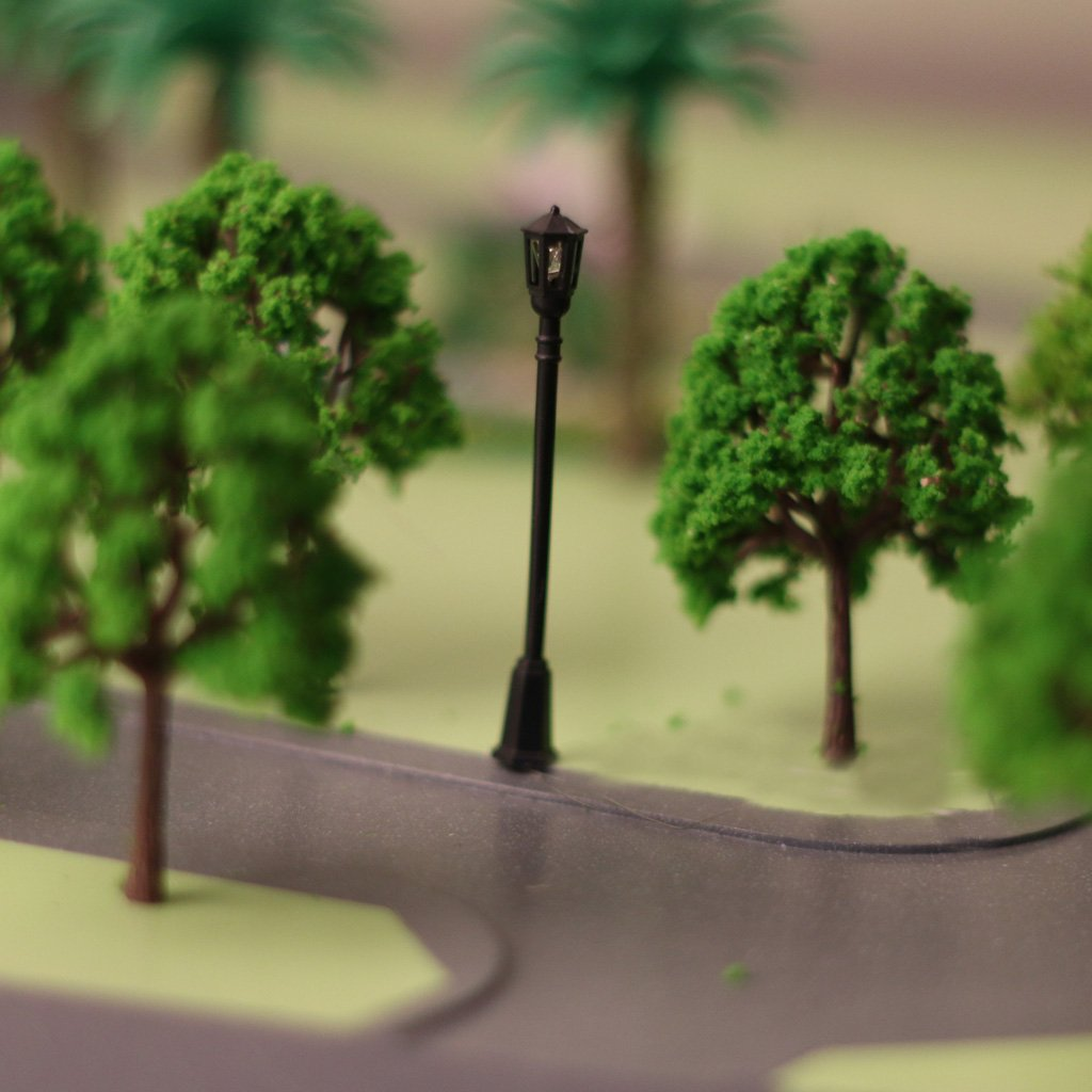Model Building 40pcs Garden Lamp Lights Model Pagoda Trees Street Diorama Scenery N Z Scale With A Long Standing Reputation Model Building Kits