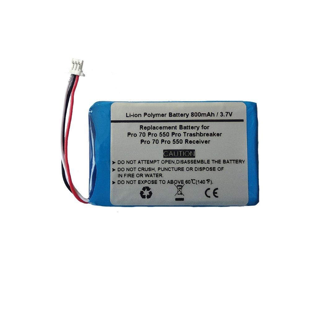 800mAh/3.7V Replacement Battery for Garmin Pro 70 Trashbreaker Pro 550 Trashbreaker,Pro Trashbreaker, Pro 70 Receiver, PT 10, TB 10, Pro 550 Dog Training, Sport Pro Transmitter (361-00056-09) STARNOVO