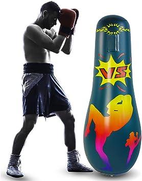 Tianhaik Saco de boxeo inflable para niños y adultos, saco de arena de pie libre de boxeo para aliviar el estrés