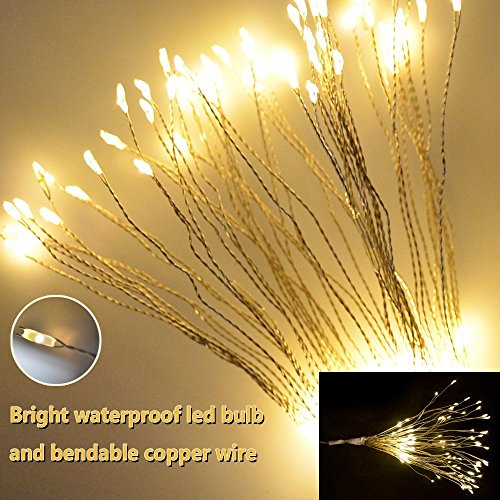 to Waterproof ip65 copper wire Fireworks Flaming lights 200 LEDs