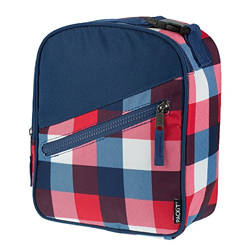 PackIt Freezable Upright Lunch Box, Buffalo Check