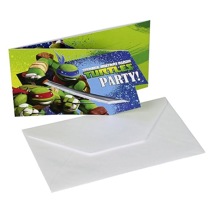 Plato llana cumpleaños Teenage Mutant Ninja Turtles 8 platos ...