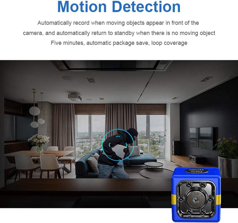 Mini c/ámara port/átil con c/ámara WIFI Full HD 1080P visi/ón nocturna detecci/ón de movimiento negro EKUPUZ impermeable grabadora de videoc/ámara