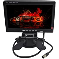 Padarsey 7 Inches TFT Color LCD Car Rear View Camera Monitor Support Rotating The Screen and 2 AV Inputs (7 Inch LCD…