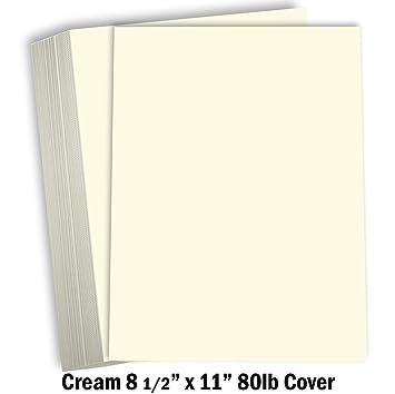 Papel grueso de cartulina de color crema – 8 1/2 x 11 pulgadas de ...