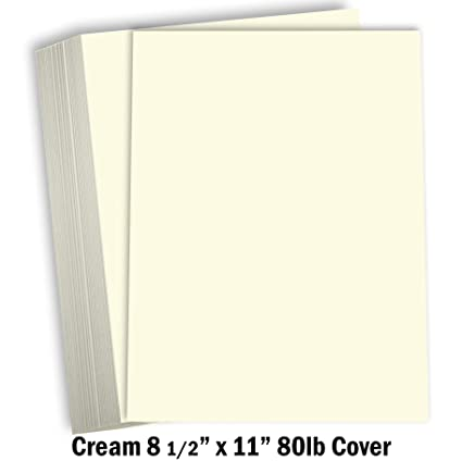 Cream Colored Cardstock Thick Paper - 8 1/2 x 11