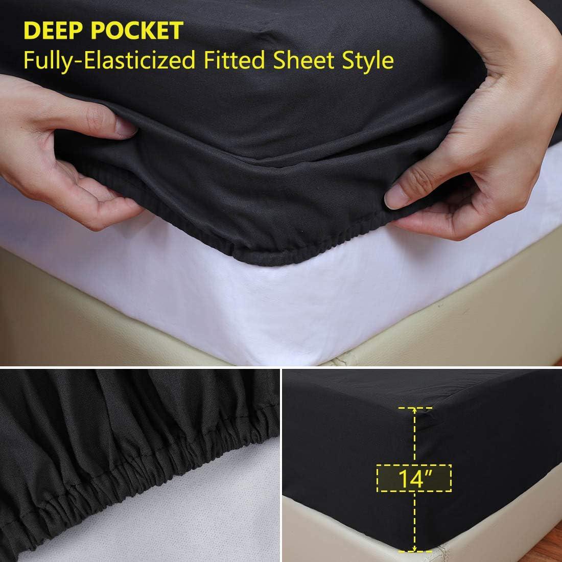 bianco 99x190cm con fascia elastica traspirante senza vinile con angoli elasticizzati Sourcingmap Coprimaterasso impermeabile ipoallergenico Single