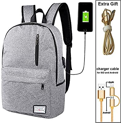 909549c6e86c Tactical Smart Backpack Canvas Anti-Theft Bag with USB Charging Laptop  Daypack For Shopping Hiking