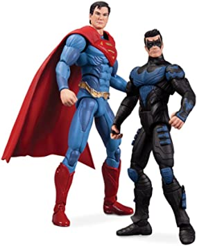 DC INJUSTICE GODS AMONG US NIGHTWING VS SUPERMAN ACTION FIGURE 2 ...