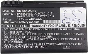 Cameron Sino 11.1V/4400mA BATBL50L6 Replacement Battery for Acer Aspire 3690,Aspire 3692WLCi,Aspire 3693WLMI,Aspire 5100,Aspire 5101,Aspire 5102 Battery