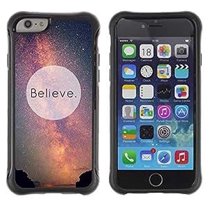 LASTONE PHONE CASE / Suave Silicona Caso Carcasa de Caucho Funda para Apple Iphone 6 / Motivational Sky God Aliens