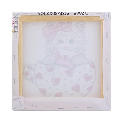 N/X ღDOOIOR 5D Diamond Painting Frame Photo Picture Frame DIY Cross Stitch Embroidery Wooden: Home & Kitchen