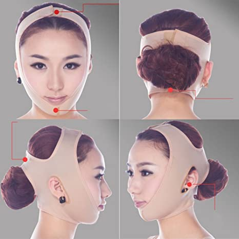 Gebi V cara Slim máscara eliminar arrugas belleza dormir máscara V Línea Cara reducir Papada Lift