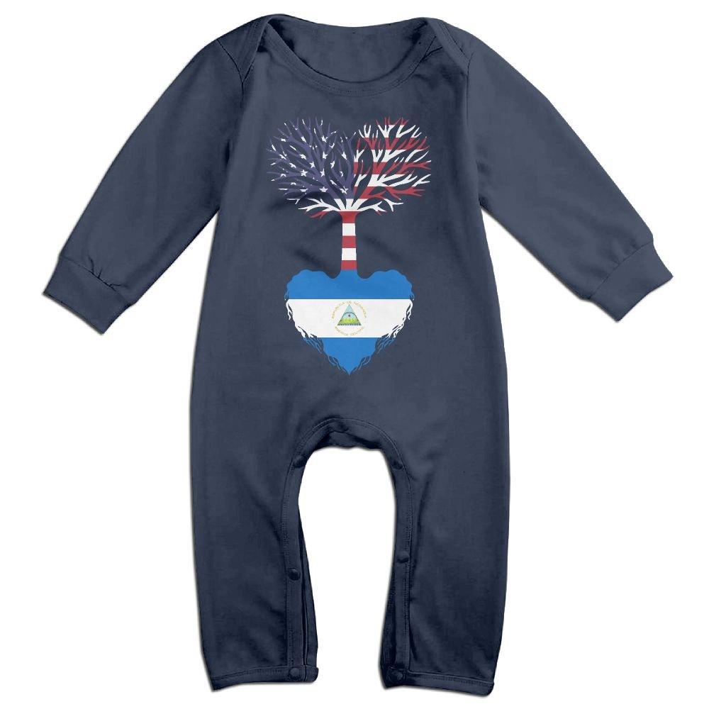 Mri-le1 Newborn Baby Jumpsuit American Grown Nicaragua Root Baby Rompers