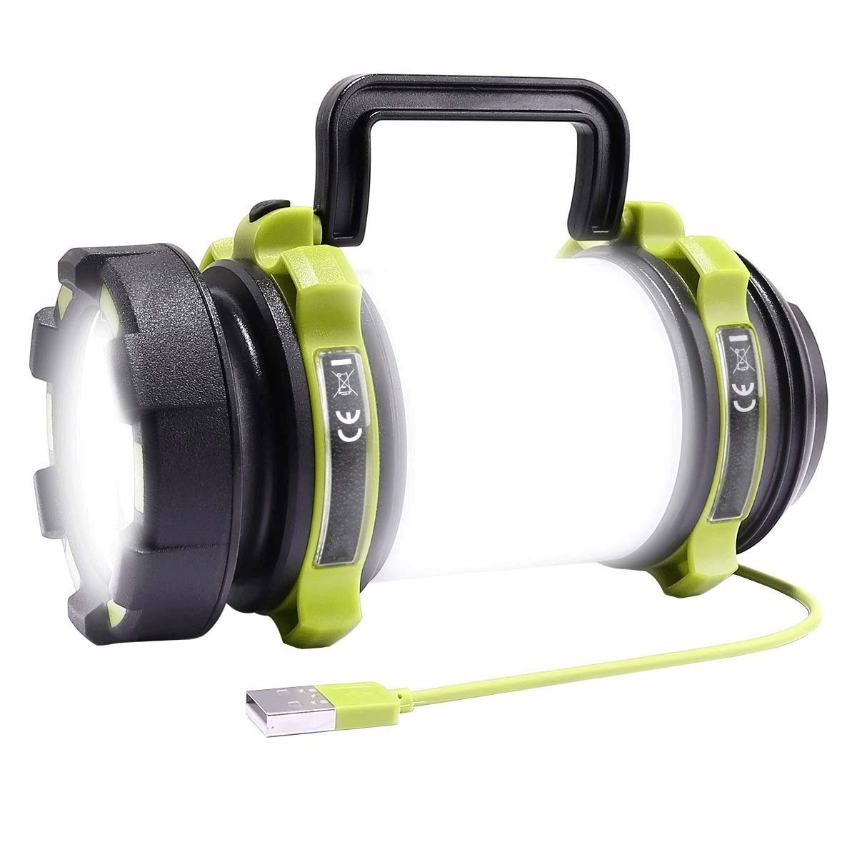 MMPY LE Rechargeable Multi-Function Flashlight Outdoor Tent Light, 500 Lumens Camping Light, Waterproof Outdoor Searchlight for Emergency, Fishing, Hiking, Etc.