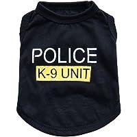 Bello Luna Pet Costume Police camiseta de perro