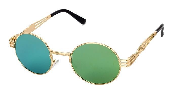 Männer Und Frauen Runde Gläser Retro Sonnenbrille Metall Prinz Spiegel Persönlichkeit Einbruch Der Menschen Sonnenbrillen,A4