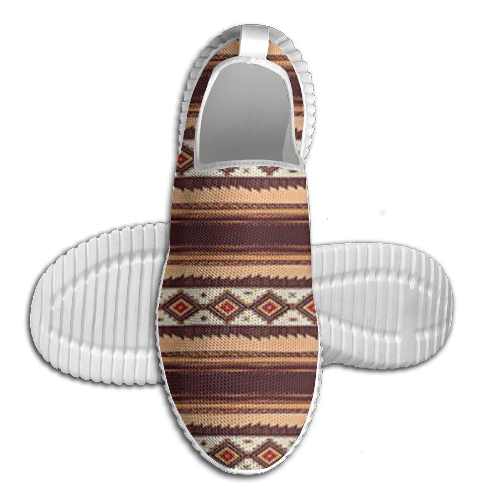 DiamondsJun Unisex Hand Drawn Style Pattern Ethnic Tribal Indigenous Design All Over 3D Printed Mesh Slip On Fashion Comfortable Shoes 44