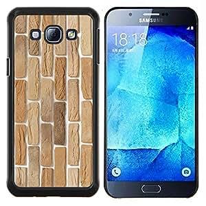TECHCASE---Cubierta de la caja de protección para la piel dura ** Samsung Galaxy A8 ( A8000 ) ** --Textura de la pared