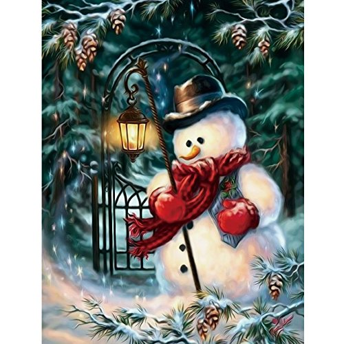 Cross Stitch Kit,5D DIY Diamond Painting Embroidery Kit Home Decor Arts, Crafts & Sewing Cross Stitch (Snowman)