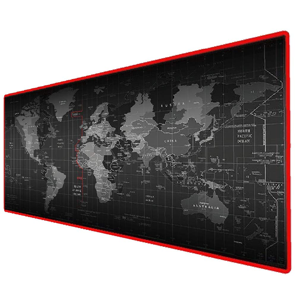 800x300mm Extended Gaming Mouse Mat//Pad XXL Large Black Mousepad Stitched Edges