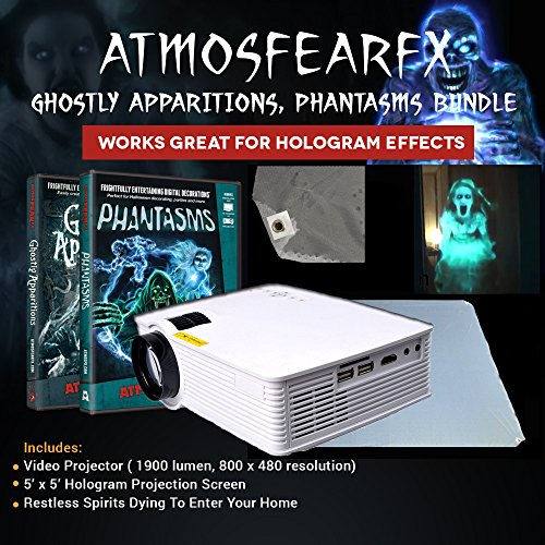 Amosfearfx Windowfx Bundle Includes Atmosfear Fx Halloween Videos Ghostly Apparitions And Phantasms With Hologram Screen