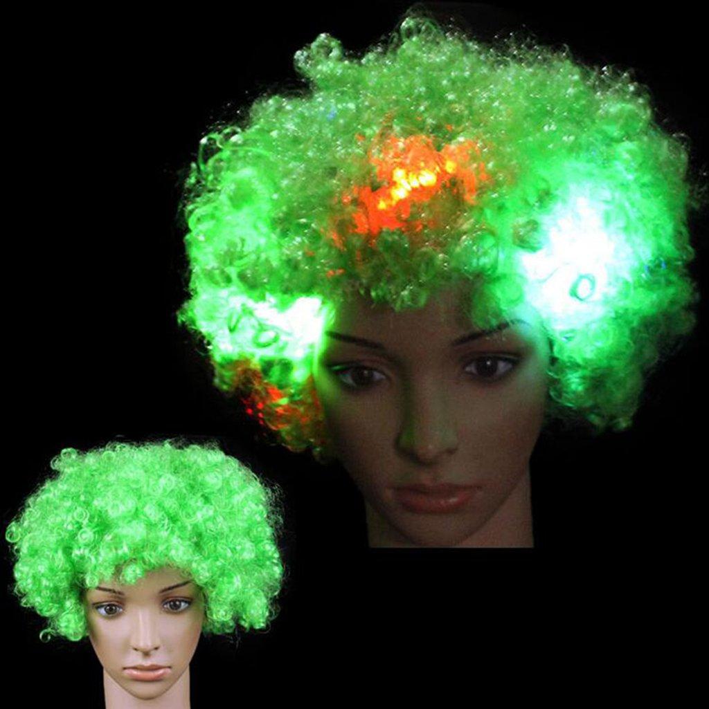 Longless Coloridas explosiones intermitentes peluca cabeza diadema color dance party mostrar props peluca brillante tocado