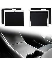 Asani Tesla Model 3 Center Console Wrap Kit (Matte Black) | Complete Protective Vinyl Sticker Set with Extra Cup Holder Wrap | Prevent Scratches, Fingerprints and Dust | Durable Tesla Accessories