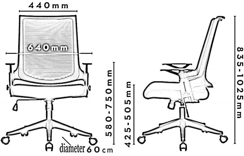 Barstolar Xiuyun kontorsstol spelstol datorstol uppgift skrivbordsstol personalstol självkontroll lyft räcke vikt 200 kg flera färger (färg: C) Jag