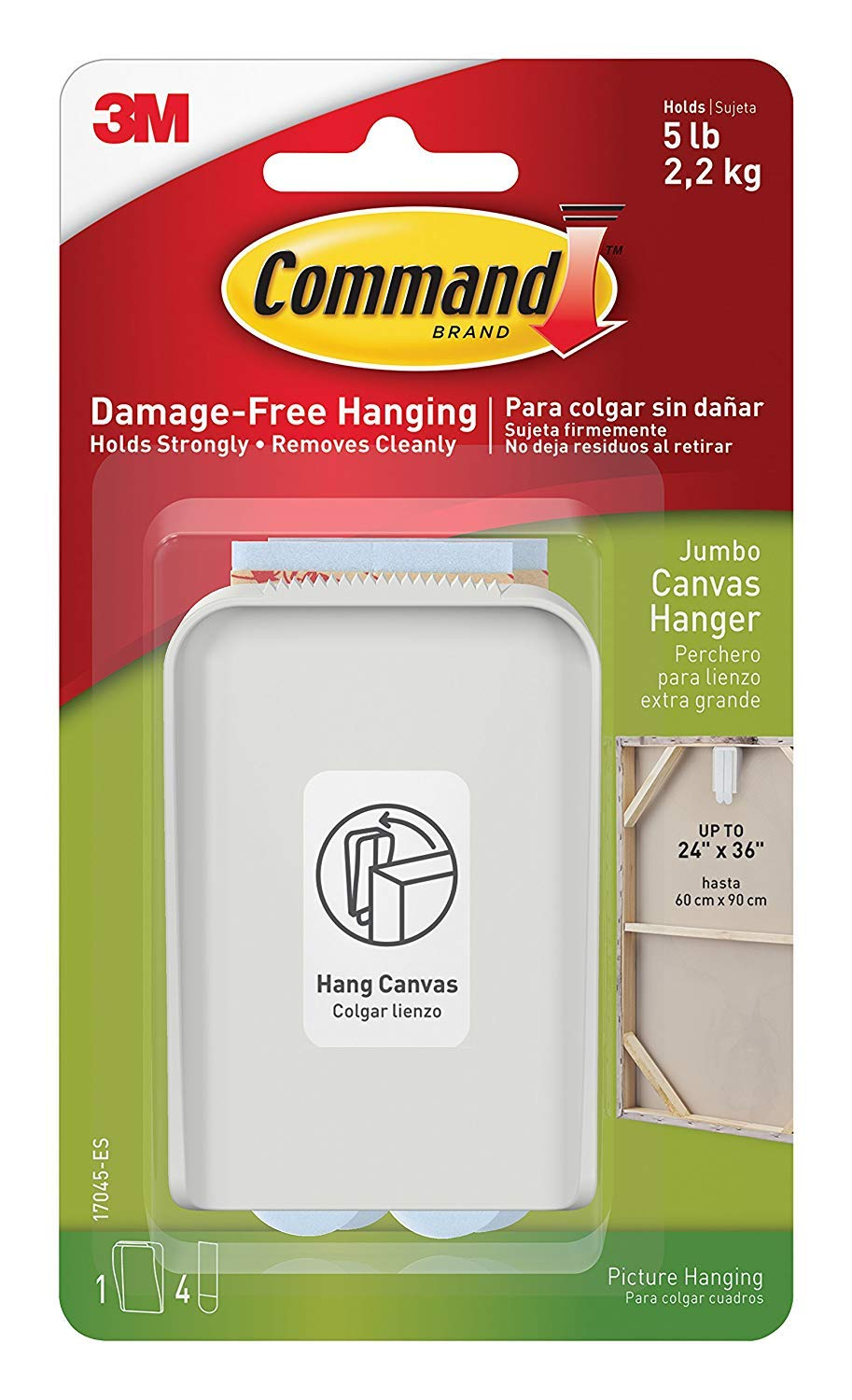 Amazon.com: Command - Percha de lona, grande, 123: Home ...