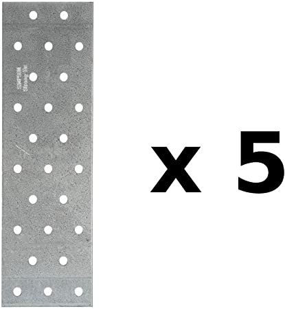 A x B x ep mm Plaques perfor/ées Simpson Strong-Tie 60 x 200 x 2mm qt/é 5 pi/èces NP20//60//200 r/éf